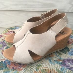 Clarks Suede & Leather Wedges